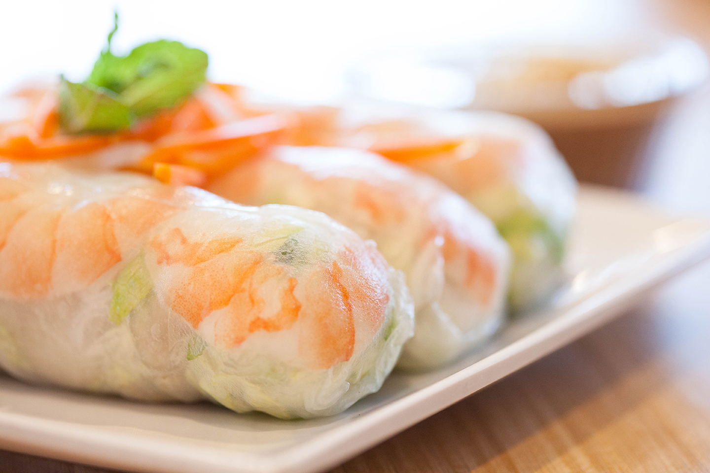 SHRIMP & PORK SPRING ROLLS