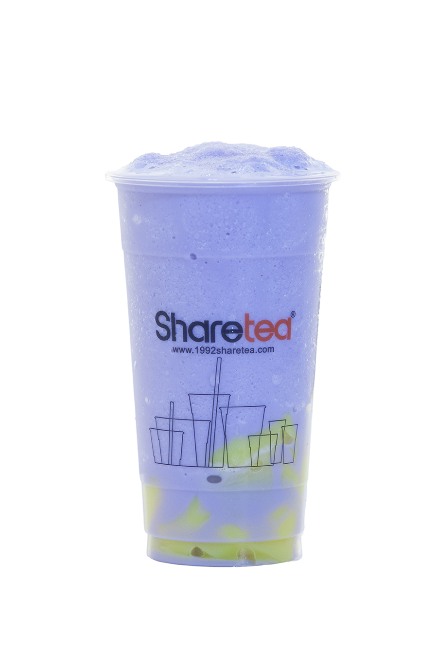 TARO ICE BLENDED WITH PUDDING